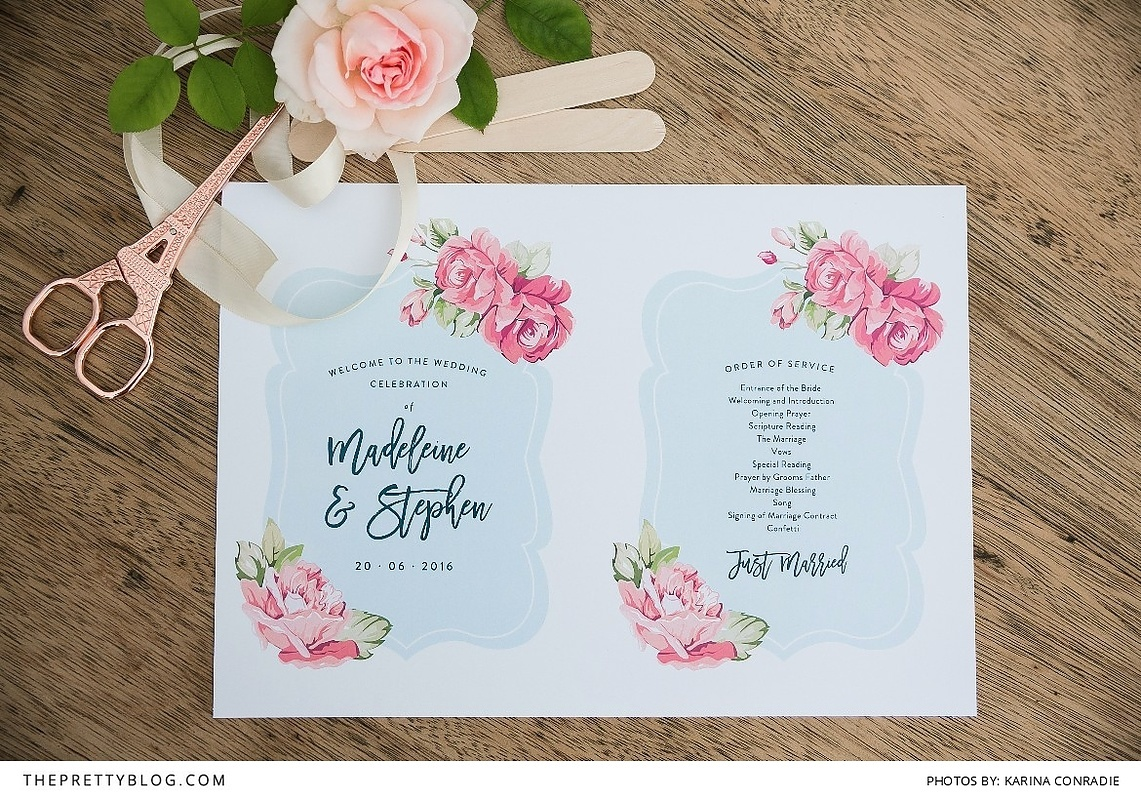 make your own wedding program